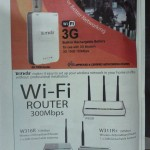 Spider Advertisement of Tenda Portable 3G wireless router 3G150B in April 2012