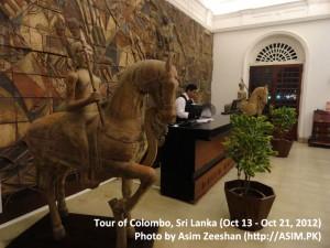 SriLanka tour - Entrance of Galle Face Hotel