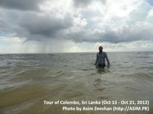SriLanka tour - me Swimming at Hikkaduwa Beach